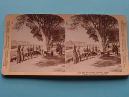 The Road Of The PYRAMIDS, EGYPT ( Underwood & Underwood N° 43 ) Zie Foto´s Voor Details ) ! - Photos Stéréoscopiques
