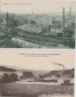 16 / 11 / 411  -    IZIEUX  ( 42 )  -  2  CPA   -  ACIÉRIES  &  USINES MÉTALLURGIQUES  CHAVANNES - Frankrijk