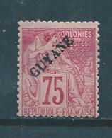 Colonie Timbres  De Guyanne  De 1892  N°27  Neufs*   Cote  180€ - Guyane Française (1886-1949)