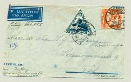 Nederlands Indië - 1934 - Uiver-retourpost Verzonden Met De IJsvogel (Uiver Verongelukt / Crashed) - Netherlands Indies