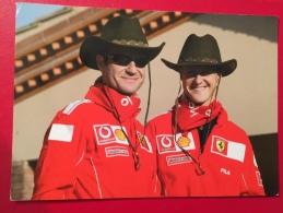 Michael Schumacher Et Rubens Barrichello Formule 1 Spanien 2004 Pilotes Circuit Auto Grand Prix Ferrari - Grand Prix / F1