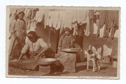 SALONIQUE - CARTE PHOTO - TZIGANES FAISANT LA LESSIVE - Grecia