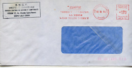 EMA Transport Train SNCF,geologie Alpes,nature Neige,Nord-Alpes La Neige^par Train Direct,lettre Lille Bourse 12.10.1984 - Trains