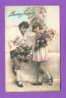 CPA  FANTAISE  ENFANTS  ~  3015  Bonne Année  ( ABC ) - Fantaisies