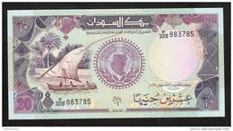 SUDAN P47  20   POUNDS  1991  #F/205     UNC. - Soedan