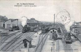 Chaumont - Intérieur De La Gare - Scannée Recto  & Verso - Autres Communes