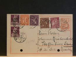 64/498   CP  ALLEMAGNE  1922  PERFORE - Lettres & Documents
