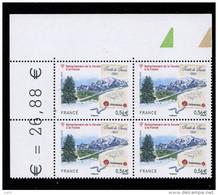 FRANCE 2010  Bloc De QUATRE (4) CDF YT N°4441** Dentele- Rattachement De La SAVOIE Traite De Turin1860 - 0.56€ Avec - France