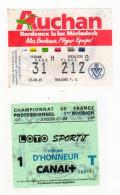 Billet Championnat De France,Girondins De Bordeaux-Toulouse F.C. - Tickets - Vouchers