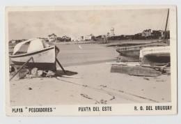 URUGUAY PLAYA PESCADORES PUNTA DEL ESTE F/P VIAGGIATA 1938 - Uruguay