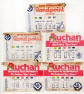 Lot De 5 Billets Championnat De France,Girondins De Bordeaux - Tickets - Vouchers