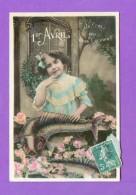 CPA  FANTAISE  ENFANTS  ~  572  1er Avril  Devinez Qui Vous L´envoie  ( Aéro 1910 ) - Autres