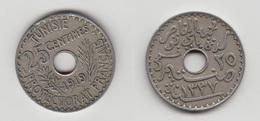 TUNISIE - 25 CTS 1919 - Tunisie