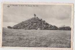 WATERLOO LE LION E LE CHAMP DE BATAILLE - LA BUTTE DE HEUVEL - THE HILL  F/P VIAGGIATA 1958 - Waterloo