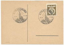 C431 - STRASSBURG Avec Lettre B - 1943 - Timbre à Surtaxe - Bas Rhin - Alsace - Guerre 39/45 - - Marcophilie (Lettres)