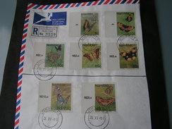 Namibia ,  Auf Briefteilen  Schmeteringe Butterflies 1993 - Schmetterlinge