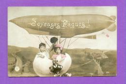 CPA  FANTAISE  ENFANTS  ~  819  Joyeuses Pâques  ( AF 1910 ) - Fantaisies