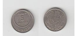 TUNISIE 5 FRS 1954 - Túnez