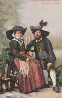 Folklore - Trachten - Alt Grödner Brautpaar (W1678 - Folklore
