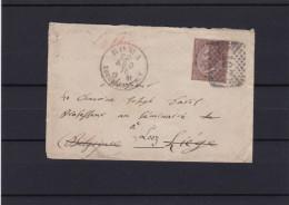 N° 18 / Lettre De ROMA Vers Belgique Looz - 1861-78 Victor Emmanuel II