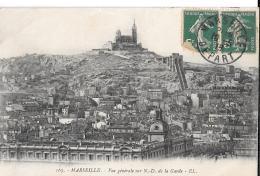 MARSEILLE Vue Générale Sur Notre Dame De La Garde - Marseille