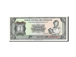 Paraguay, 5 Guaranies, 1952, 1952, KM:195b, SPL - Paraguay