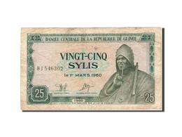 Guinea, 25 Sylis, 1980-1981, 1980, KM:24a, TB - Guinée