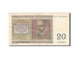 Belgique, 20 Francs, 1948-1950, KM:132a, 1950-07-01, TTB+ - [ 6] Treasury