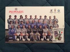 Fotografia Formato Cartolina Ceramica Mirage Sponsor Juventus Con Ann. 1° Giorno 1997 - Fútbol