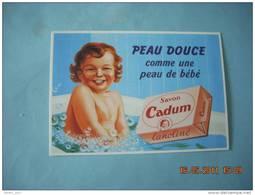 CLOUET    10634  SAVON CADUM   LE FEUVRE  1958  PEAU DE BEBE  LANOLINE - Advertising