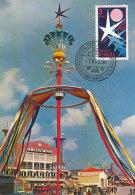 D27236 CARTE MAXIMUM CARD 1958 SPAIN - WORLD EXPO '58 BRUSSELS SYMBOL CP ORIGINAL