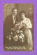 CPA  FANTAISE  COUPLES  ~   61002/1  Pour Que Le Bonheur Vous Visite ...  ( Amag  1915 ) - Autres
