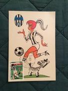 Cartolina Allegorica Annullo 1° Giorno Juventus Campione D'Italia 1994-95 - Fútbol