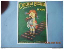 CLOUET   10 440  CHOCOLAT BESNIER FILLETTE ALP FOUQUERAY S  LE MANS - Advertising