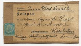1941 - HINDENBURG - ETIQUETTE FELDPOST Sur CARTON RIGIDE Pour WIESBADEN - Allemagne