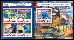 GUINEA 2016 - World War II: Pearl Harbor. M/S + S/S. Official Issue - Militaria