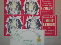 LOT DE 5 BUVARDS - Buvard Huile LESIEUR - Alimentaire Alimentation (B3856) - Blotters