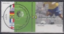 Brasilien 3226/27 ** Fußballweltmeisterschaft Im 20. Jahrhundert - Unused Stamps