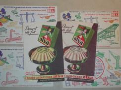 LOT DE 6 BUVARDS - Buvard Levure Alsacienne ALSA Tintin Jeu De Construction Type Trix Ou Meccano - Alimentaire (B3857) - Blotters
