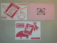 LOT DE 3 BUVARDS - Buvard Liebig Viandox Pois Au Lard, Potage -  Alimentaire Alimentation (B3858) - Buvards, Protège-cahiers Illustrés