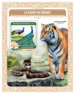 TOGO 2016 - Fauna Of World 13: Peacock, S/S. Official Issue.