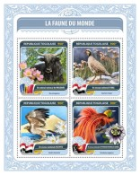 TOGO 2016 - Fauna Of World 5: Partridge. Official Issue.