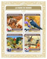 TOGO 2016 - Fauna Of World 6: Swallow. Official Issue.