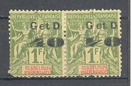 Guadeloupe: Yvert N° 48/48cx Se Tenant La Paire Consolidé - Guadalupe (1884-1947)