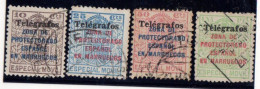 MARRUECOS TELEGRAFOS Nº 41A/41D. - Spanish Morocco