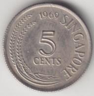 @Y@    Singapore  5 Cents   1969     (3978) - Singapore