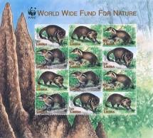 (WWF-236) W.W.F. Liberia Moongoose MNH Perf Sheetlet 1998 - W.W.F.