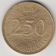 @Y@    Libanon   250 Livres  2003       (3980) - Liban