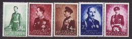 23-032 // 1938  ZAR BORIS 20 JAHRE JUBILEUM   Mi 345/49 ** - 1909-45 Royaume