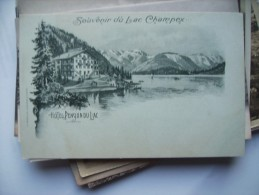 Zwitserland Schweiz Suisse VS Lac Champex Et Hotel Du Lac CP Ancienne Alte Ansichtskarte - VS Valais